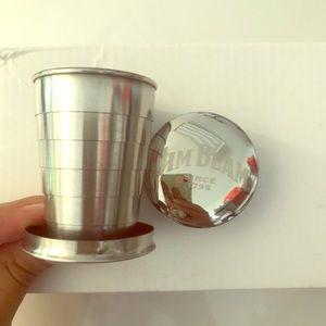 10 Collapsible Jim Beam shot glass brand new